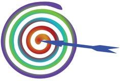 Target with arrow Stock Photo