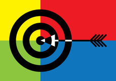 Target with arrow in the middle vector illustration