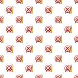 Target arrow pattern seamless vector illustration