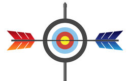 Target with arrow Royalty Free Stock Images