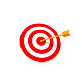 Target with Arrow Vector Illustration. Red Round Target with Arrow. Vector Illustration Isolated on White Background Stock Photo