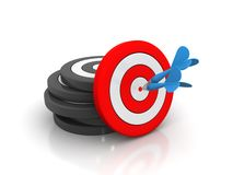 Target with arrow. Royalty Free Stock Image