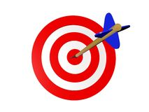Target with arrow Stock Image