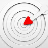 Target with arrow - white toned. 3d illustration Royalty Free Stock Photos