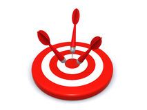 Target and arrows Stock Images