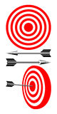 Target and arrows. Royalty Free Stock Photography