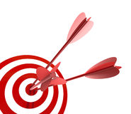 Target and arrows Royalty Free Stock Images