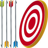 Target and arrows Royalty Free Stock Photo