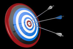 Target and arrows on background Royalty Free Stock Images
