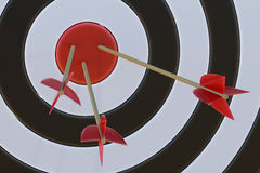 Target with arrows. 3D rendered illustration Royalty Free Stock Photography