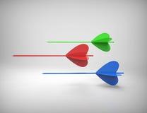 Target arrows Stock Photo