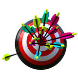 Target with arrows and a failure Royalty Free Stock Photo