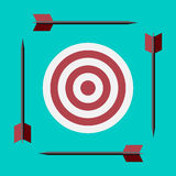 Target and arrows Royalty Free Stock Image