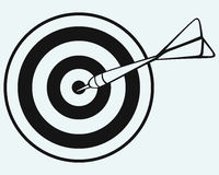 Target and arrows. Isolated on blue background Royalty Free Stock Photos