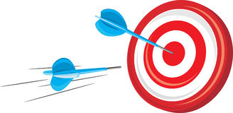 Target with arrows Royalty Free Stock Images