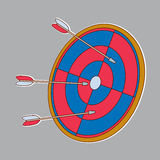 Target with arrows Stock Image