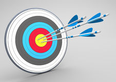 Target 3 Arrows Stock Photography