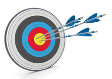 Target 3 Arrows Royalty Free Stock Images
