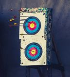 Target and arrows royalty free stock photography