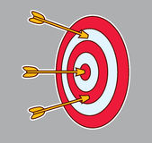 Target with arrows Stock Photos