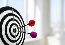 Target. Aspirations Darts Bull's-Eye Arrow Center Red Royalty Free Stock Image