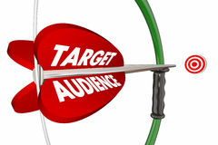 Target Audience Customers Group Bow Arrow stock illustration