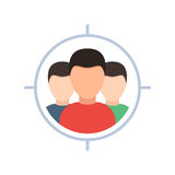 Target audience icon Stock Image