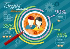 Target audience infographic Stock Photography