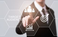 Target Audience Marketing Internet Business Technology Concept royalty free stock images