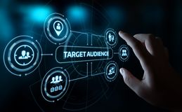 Target Audience Marketing Internet Business Technology Concept royalty free stock photography
