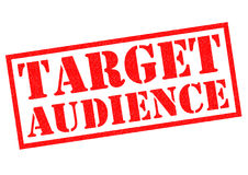 TARGET AUDIENCE. Red Rubber Stamp over a white background Stock Image