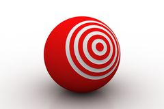 Target ball Royalty Free Stock Images