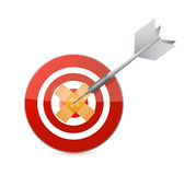 Target band aid fix solution concept Royalty Free Stock Images