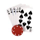 target1708_0_ bawić się kart układ scalony Zdjęcia Royalty Free