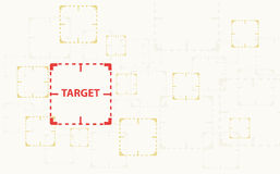 Target are being watched , CCTV , Close Circuit Television watched sign background vector Royalty Free Stock Image