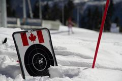 Target for biathlon on the snow Royalty Free Stock Image
