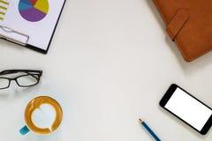 target1166_0_ biznesmena biurka biurowy sieci biel Obraz Stock