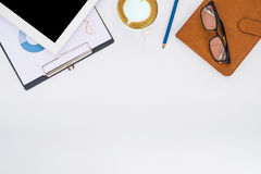 target1166_0_ biznesmena biurka biurowy sieci biel Zdjęcie Stock