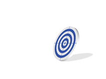 Target blue. Blank blue target, computer generated Stock Photography