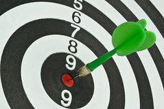 Target board. Of Darts game with arrows Stock Photography