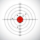 Target board. Illustration of target board with isolated background Stock Image