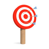 Target board with arrows Royalty Free Stock Images