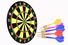 Target board and darts Royalty Free Stock Image