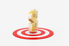Target board with dollar sign Royalty Free Stock Photos