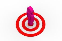 Target board and man Stock Photography