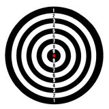 Target board with numbers Royalty Free Stock Images