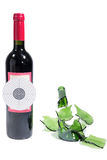 Target bottle wine Royalty Free Stock Images