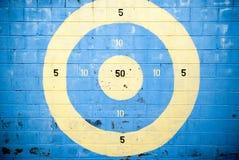 Target on brick wall Stock Image
