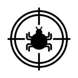 Target with bug infection virus icon Stock Photography