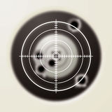Target bullet. Target with gun shot holes and hunters sporting sight Royalty Free Stock Image